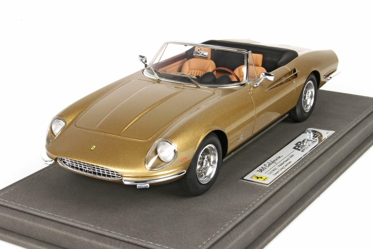 BBR 1/18 フェラーリ 365 California S/N 9631 メタリックゴールド 72台限定 BBR 1:18 Ferrari 365 California S/N 9631 metallic gold Limited Edition 72pcs