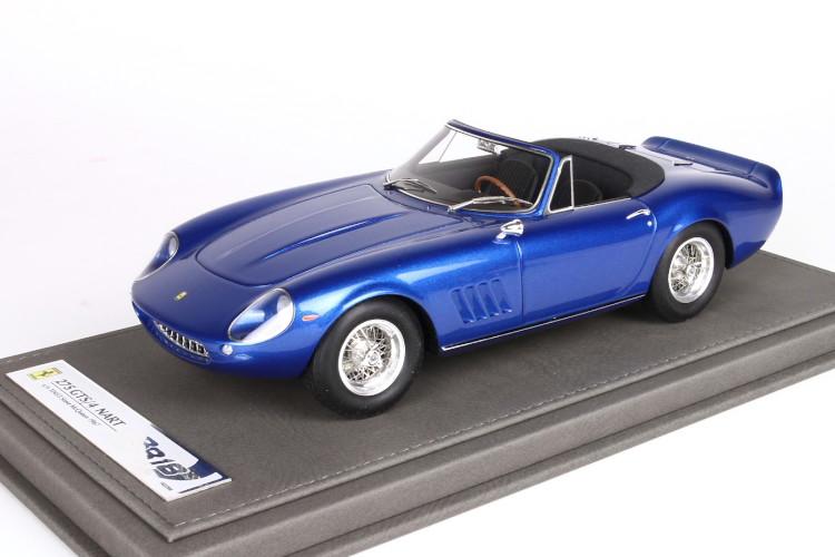 BBR 1/18 フェラーリ 275 GTS/4 NART S/N 10453 スティーブ・マックイーン 1967 ブルー 200台限定 BBR 1:18 Ferrari 275 GTS/4 NART S/N 10453 Steve McQueen 1967 blue Limited Edition 200pcs
