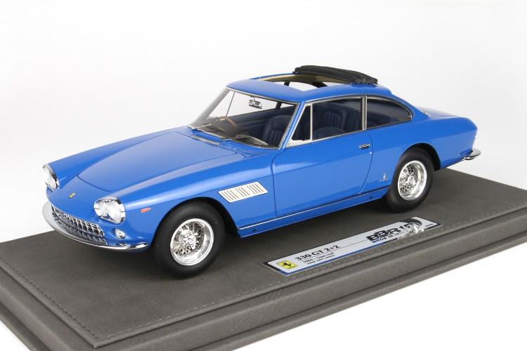 BBR 1/18 フェラーリ 330 GT 2+2 オープンルーフ ジョン・レノンパーソナルカー ブルー 300台限定 BBR 1:18 Ferrari 330 GT 2+2 Open Roof Personal Car John Lennon blue Limited Edition 300 pcs