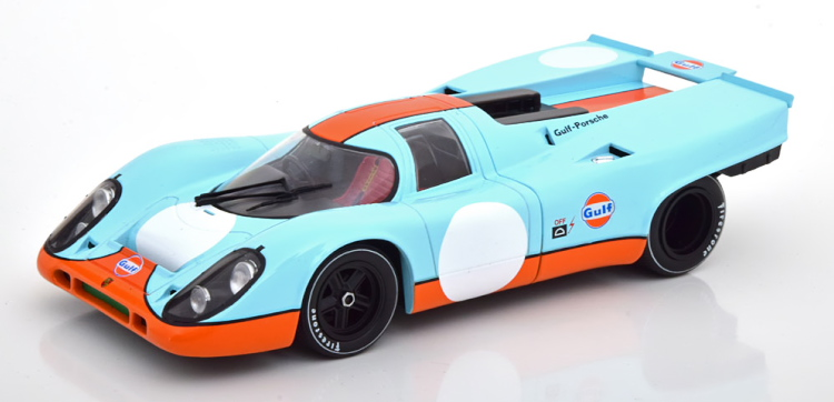 CMR 1/18 ポルシェ 917K バージョン 1 番号なし Porsche Porsche without start number Gulf with Decals for 8 DIFFERENT race