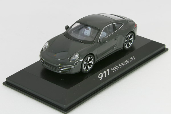 WELLY 1/43 ポルシェ 特注 911 クーぺ (991) 50周年記念モデル 2013 グレー