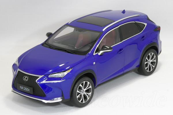 レクサス特注 1/18 レクサス NX 200t ブルー 2015 NX200t