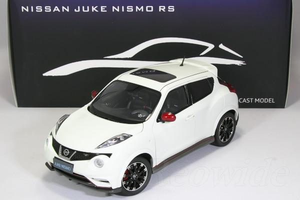 パウディ モデル 1/18 日産特注 ジューク ニスモ RS ホワイト