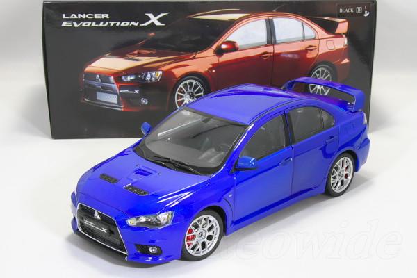 CSM 1/18 三菱 ランサーエボリューション X 左ハンドル ブルー 2010