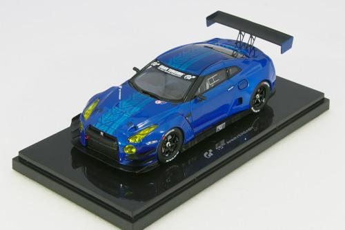 エブロ 1/43 日産 GT-R NISMO GT3 N24 0213 R35 ブルー 海外 グランツーリスモ6 GT6 購入特典