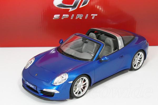 GT スピリット 1/18 ポルシェ 911 991 タルガ ブルー 504台限定 Porsche 911 (991) 4S Targa 2014 bluemetallic