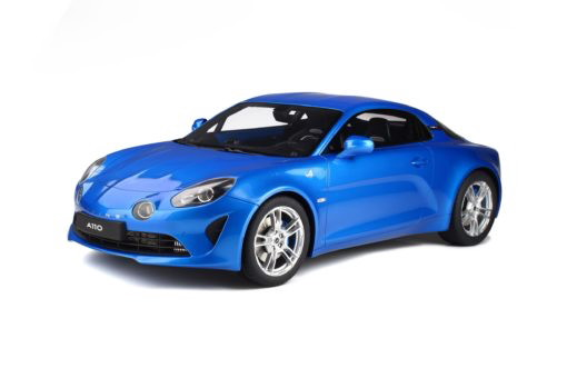 GTスピリット 1/8 ルノー アルピーヌ A110 ピュア 2019 GT Spirit 1:8 Renault Alpine A110 PURE blue with acrylcase
