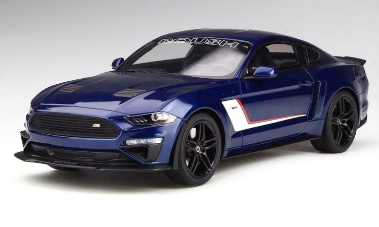 GTスピリット 1/18 フォード マスタング ステージ3 ラウシュ パフォーマンス 2019 メタリックブルー GT-SPIRIT 1:18 Ford Mustang Stage 3 Roush Performance 2019 blue metallic
