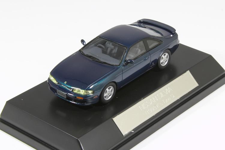 <中古品>ハイストーリー 1/43 日産 S14 シルビア 1993 K's Type S 前期 Hi-Story 1/43 NISSAN Silvia ZENKI Greenish Blue
