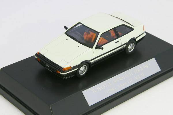 Hi-Story 1/43토요타 스프린터 트레노 GT-APEX AE86 2 도어 쿠페 1983 화이트 HS004