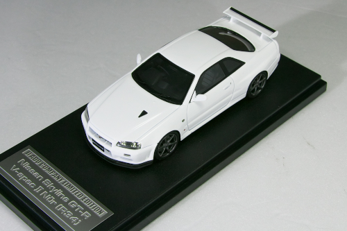 HPI 1/43 #8396 日産 R34 スカイライン GT-R V-specll Nur ホワイト 240台限定