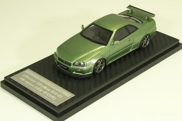 HPI 1/43 #8356 日産 R34 スカイライン GT-R M-spec Nur ミレニアムジェイド 200台限定