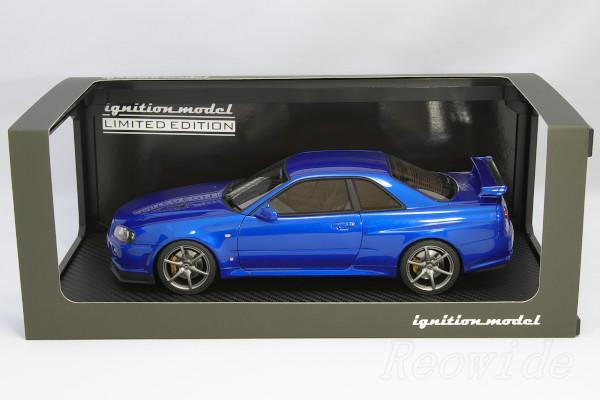 Ignition 1 / 18 Nissan R34 Skyline Gt R V Spec Ll Bayside Blue 60 Limited  Edition IG0237
