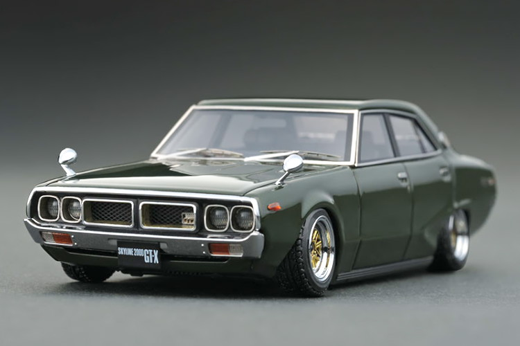 イグニッション 1/43 日産 スカイライン 2000 GTX GC110 グリーン ignition 1/43 Nissan Skyline 2000 GT-X GC110 Green