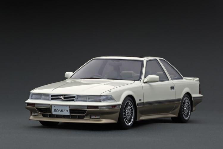 イグニッション 1/18 トヨタ ソアラ Z20 3.0GT リミテッド ホワイト/シルバー Ignition 1:18 Toyota Soarer Z20 3.0GT-LIMITED White/Silver