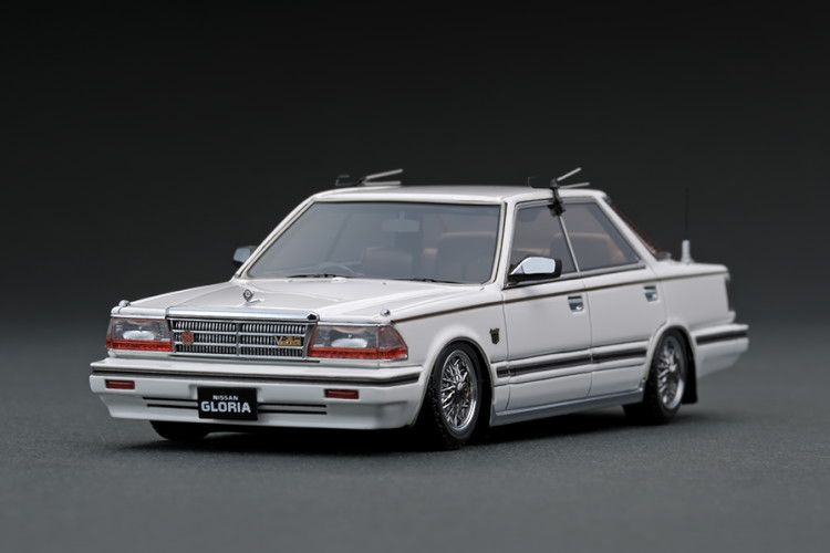 イグニッション 1/43 日産 グロリア Y30 4ドア ハードトップ ブロアム VIP ホワイト ワイヤーホイール ignition 1:43 Nissan Gloria Y30 4Door Hardtop Brougham VIP White Wire-Wheel