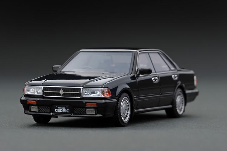 イグニッション 1/43 日産 セドリック Y31 グランツーリスモ SV ブラック 15インチ純正ホイール ignition 1:43 Nissan Cedric Y31 Gran Turismo SV Black