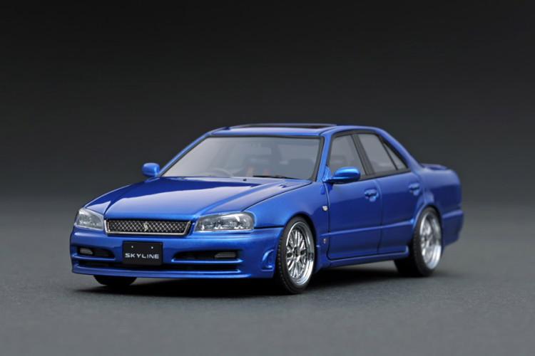 イグニッション 1/43 日産 スカイライン 25GT ターボ ER34 メタリックブルー ignition 1:43 Nissan Skyline 25GT Turbo ER34 Blue Metallic