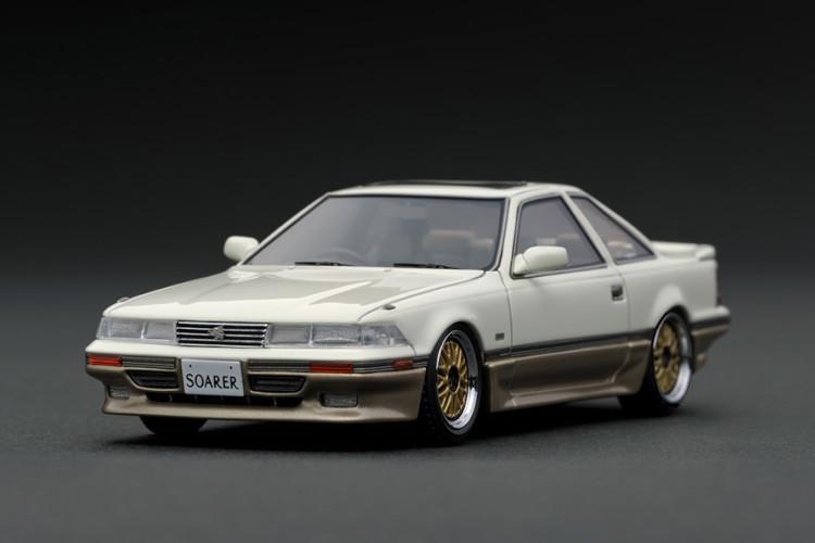 イグニッション 1/43 トヨタ ソアラ Z20 3.0 GT リミテッド ホワイト/シルバー ゴールドホイール Ignition 1:43 Toyota Soarer Z20 3.0GT-LIMITED White/Silver