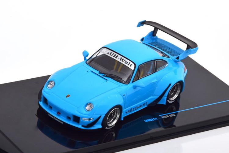 イクソ 1/43 ポルシェ 911 993 RWB 2018 ライトブルー Ixo 1:43 Porsche 911 (993) RWB 2018 lightblue