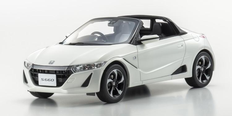 京商 1/18 ホンダ S660 スパイダー 2015 メタリックホワイト KYOSHO 1:18 HONDA S660 SPIDER 2015 WHITE MET