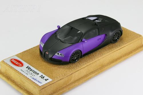 Look Smart 1 / 43 Bugatti Veyron 16.4 Matte Black/matte Purple Limited 50  Units