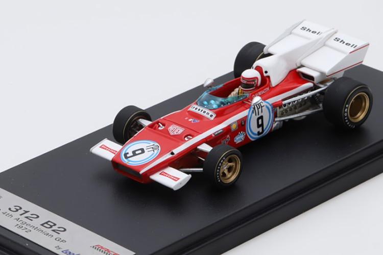 ルックスマート 1/43 フェラーリ 312 B2 アルゼンチンGP 1972 レガツォーニ レッド/ホワイト Looksmart 1:43 Ferrari 312 B2 GP Argentina 1972 Regazzoni red white