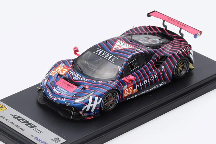 ルックスマート 1/43 フェラーリ 488 GTE #83 ル・マン24時間耐久レース 2019 ブルー/ピンク/ブラック Looksmart 1:43 Ferrari 488 GTE No 83 24h Le Mans 2019 Frey/Gatting/Gostner blue pink black