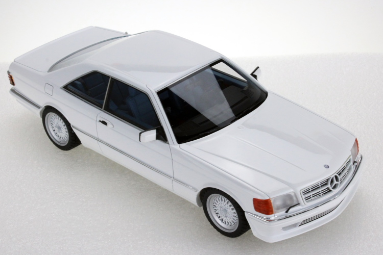 WHITE COUPE メルセデス・ベンツ ロリンザー LS C126 クーペ ホワイトMERCEDES Collectibles 560SEC Sクラス 1/18 BENZ S-CLASS 1987 LORINSER