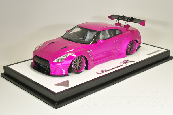 Make up EIDOLON 1/18 LB★WORKS R35 GT-R リバティウォーク GT ウィング バージョン フラッシュピンク 30台限定 (海外ショップ特注)