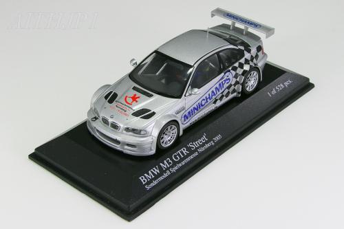 ミニチャンプス 京商 1/43 BMW M3GTR シルバー トイフェア 2005 528台限定