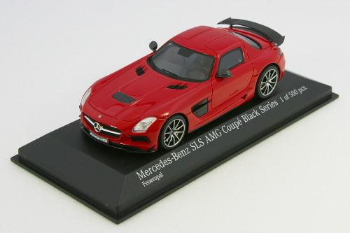 ブラック・シリーズ SLS 500台限定 AMG 1/43 レッド クーペ 2013 メルセデス・ベンツ ミニチャンプス