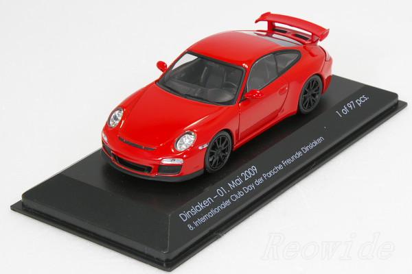 ミニチャンプス 1/43 ポルシェ 911 (997) GT3 97台限定 Dinslaken 2009