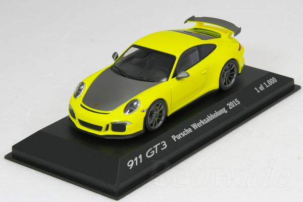 人気商品は ミニチャンプス 1/43 ポルシェ GT3 911 GT3 2015 (991) イエロー 1000台限定 Werksabholung 2015 1000台限定, 江迎町:d652fab4 --- canoncity.azurewebsites.net