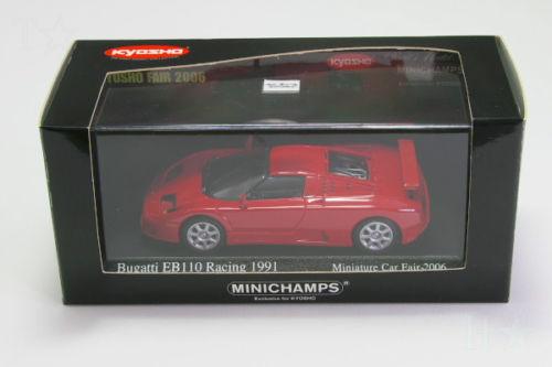 [二手] Minichamps 1 / 43 布加迪 EB110 賽車 1991 (袖珍 2006 年日本愛知世博會)