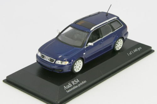 Minichamps 1 / 43 Audi RS4 avant 2000 B5 Blue Metallic