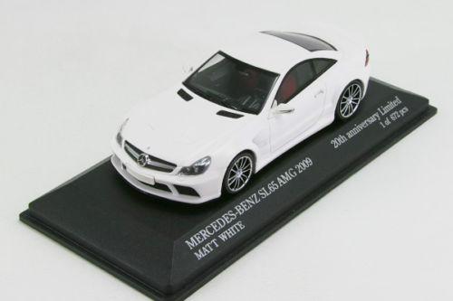 ミニチャンプス 1/43 メルセデスベンツ SL65 AMG マットホワイト 2009 672台限定!!