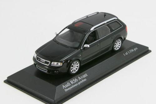 <中古品>ミニチャンプス 1/43 アウディ RS6 アバント 2002 C5 ブラックメタリック