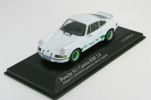 ミニチャンプス 1/43 ポルシェ 911 カレラRSR 2.8 1973 ホワイト/グリーン