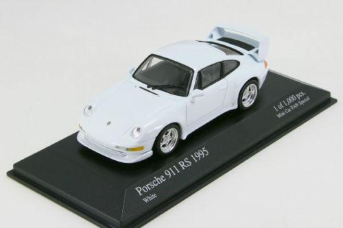<中古品>ミニチャンプス 1/43 ポルシェ 911 RS ストリート ホワイト ミニカーファン スペシャルモデル