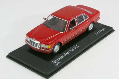 中古品 ミニチャンプス 1 アウトレットセール 特集 43 メルセデスベンツ 560 レッド SEL 1989 ギフ_包装