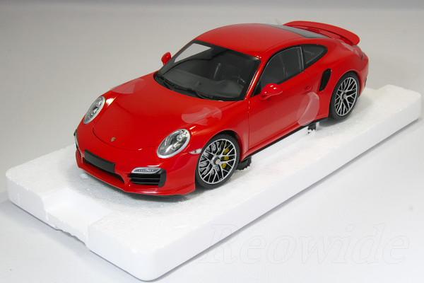 ミニチャンプス 1/18 ポルシェ 911 ターボ S 991 レッド 2013 モデル フル開閉 1000台限定