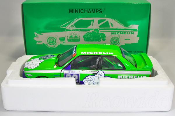 ミニチャンプス 1/18 M3 Team Alpina, DTM winner Hockenheim 1988 Christian Danner #22 762台限定 開閉