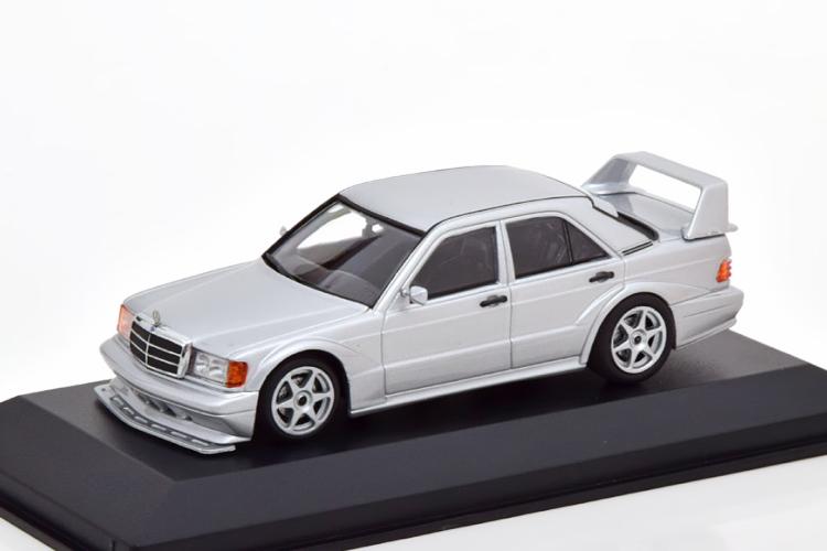 ミニチャンプス 1/43 メルセデス 190E 2.5-16 Evo2 1990 シルバー Maxichamps-Series Mercedes silver