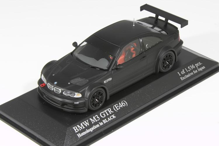 <中古品>ミニチャンプス 1/43 BMW M3 GTR E46 Homologation in Black
