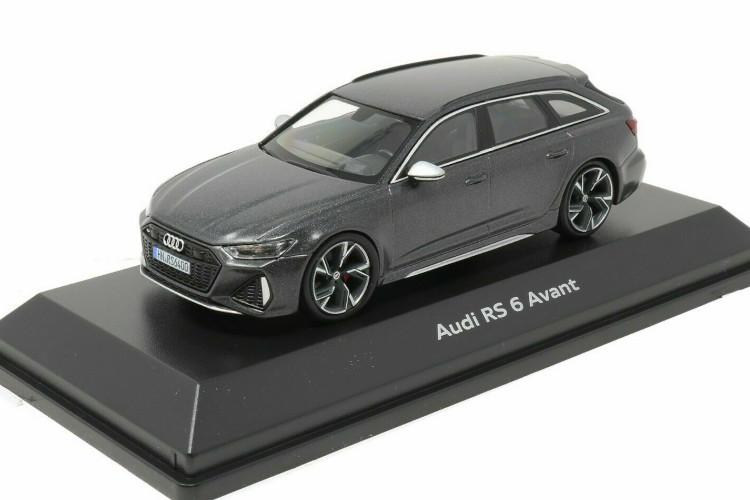 ミニチャンプス 1/43 アウディ Audi RS6 Avant 2020 C8 マットグレー Daytona Gray Matt