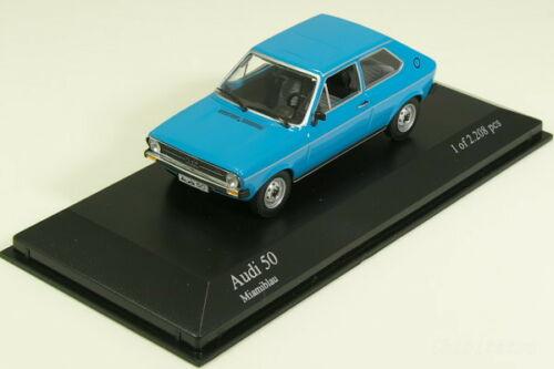 <title>絶版 中古品 ミニチャンプス 1 43 アウディ 50 1975 ブルー 超激得SALE Audi</title>