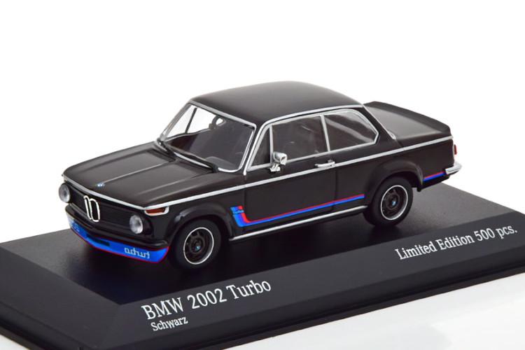 ミニチャンプス 1/43 BMW 2002 ターボ 1973 ブラック 500台限定 Minichamps 1:43 BMW 2002 Turbo 1973 schwarz Limited Edition 500 pcs