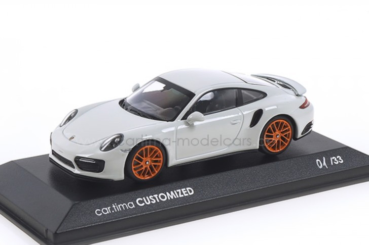 ミニチャンプス 1/43 ポルシェ 911 (991 2) ターボS ホワイト/オレンジホイール 33台限定 Minichamps 1:43 Porsche 911 (991 II) Turbo S white/orange wheel Limited Edition 33 pcs