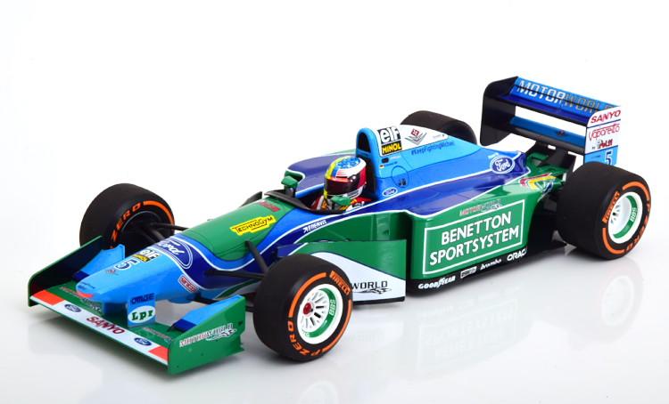 ミニチャンプス 1/18 ベネトン フォード B194 デモラン ベルギーグランプリ 2017 ミック・シューマッハ ブルー/グリーン 504台限定 Minichamps 1:18 Benetton Ford B194 Demonstration Run GP Belgium 2017 Mick Schumacher blue/green Limited Edition 504 pcs